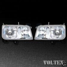 1999-2000 GMC Yukon Headlight Head light Lamp Clear lens Halogen Pair