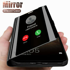 For Motorola G9 Play G9 Plus G8 Power Case,Smart Mirror Leather Flip Stand Cover
