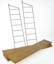 String Regal System 2 x Leiter 3 x Boden Mid Century 50er 60er mcm Design Holz