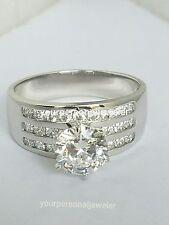2.85 Ct 14k white Gold Round man made diamond Engagement Wedding Ring s 5 6 7 8