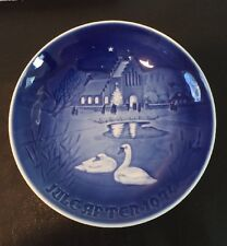 "Nib 1974 B&G 7-1/4"" Bing Grondahl"" Christmas In The Village"" Collector Plate"