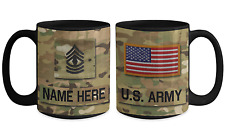 US Army Personalized Mug|First Sergeant|E8|US Army Gift for Dad/Mom/Son/Daughter