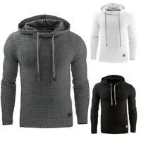 Men's Winter Warm Hoodies Sweatshirt Long Sleeve Jumper Top Coat Jacket Pullover