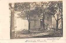 Malboro Ohio Disciple Church Real Photo Antique Postcard K48903