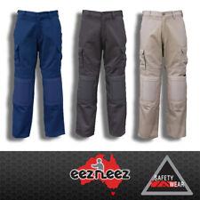 EezNeez Work Pants (Trousers) Knee Pads Navy Khaki Black Eez Neez Cotton Drill
