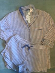 H&M Pink and Blue Striped Pyjamas BNWT