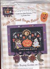 point de croix kit sans fils sur papier perforé Halloween