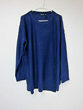 Boohoo Brave Soul Plus Eve Zip Detail Knitted Jumper - US 20 - Navy - NWT