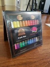 Acrylic Paint Set 24 Colors with 3 Free Brushes
