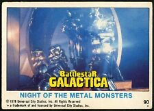 Night Of The Metal Monsters#90 Battlestar Galactica 1978 Topps Trade Card (C743)