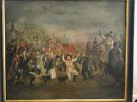 Gemälde Öl/Leinwand Schlacht/Sieg Leipziger Völkerschlacht 1813, Siegesfeier