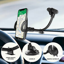 Windshield / Dashboard Flexible Phone Holder Car Mount Lock Lever One Touch Arm