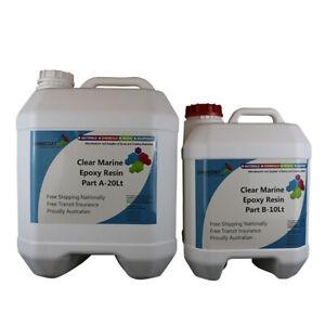 Clear Marine Epoxy Resin High Gloss Coat/Casting 2Pk DIY KIT Salt&Chem Resistant
