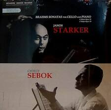 BRAHMS  SONATAS FOR CELLO AND PIANO JANOS STARKER - MERCURY SR90392 - SEBOK