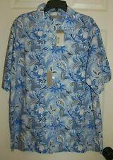 NWT Daniel Cremieux Signature Collection Blue Floral Button Up Shirt Size L