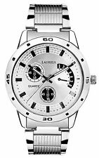 Laurels MATRIX Analog SILVER Dial Stainless Steel Chain Men's Watch