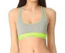 33c9ad09a6 Calvin Klein Modern Cotton Bralette Gray Heather bright Flash F3785 Sz M -