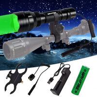 500Yards Hunting Light Green Red LED Flashlight Coyote Hog Pig Varmint Predator