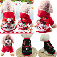 Pet Warm Dog Cat Jacket Coat Puppy Clothes Winter Sweater Christmas Cute Apparel