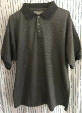 BURT PULITZER Men's Short Sleeve Golf Polo Shirt Gray -Large   100% Cotton