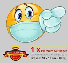 Aufkleber Smiley Maske Mundschutz Fun Sticker Maskenpflicht Mund Nasen Bedeckung