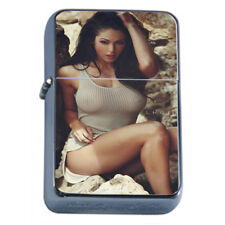 Minnesota Pin Up Girl D10 Flip Top Oil Lighter Wind Resistant With Case