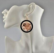 9 Carat Rose Gold Vintage Fine Earrings