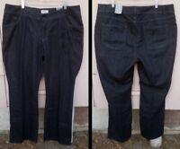 "NEW women 20 VENEZIA Lane Bryant black bootcut EMBELLISHED jeans 32 1/2"" tall"