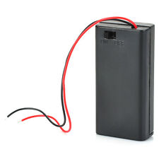 1PC 2 AA 2A Battery Holder Box Case With ON/OFF Switch Cover 2AA Battery