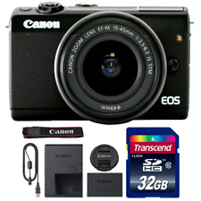 Canon EOS M100 Mirrorless Digital Camera with 15-45mm Lens and 32GB Memory Card