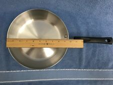"""WEST BEND STAINLESS STEEL MULTI-PLY 9 5/8"""" FRYPAN/SKILLET MADE IN THE U.S.A. GUC"""