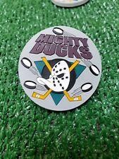 2 NHL vintage Anaheim Mighty Ducks standing board hockey fridge rubber magnet