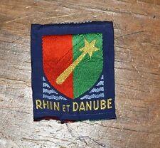 Insigne militaire armée écusson tissu patch badge régiment Rhin et Danube