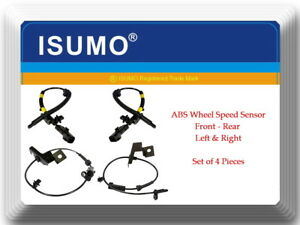 4 ABS Wheel Speed Sensor Front-Rear Left & Right Fits: Ford Fusion Lincoln MKZ