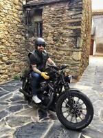 Black Tab Revolver Vest Motorcycle Waistcoat 1.3 Best USA Top Grain Leather Cut