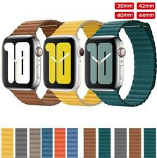 for Apple Watch iWatch Genuine Leather Strap Loop Band 6 5 4 3 2 38 40 42 44 mm