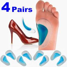 4 Paar Senkfußeinlage Einlegesohlen Silikon Orthopädisch Gel - Neu Pad Shoe