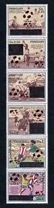 [72747] Paraguay 1989 World Cup Football Soccer Silver OVP Strip 6 Folded MNH