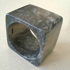MIMCO Bangle-Bracelet**BLACK*BLUE*GREY**MARBLE*TEXTURE**LUCITE**As NEW*with BOX