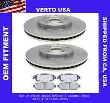Front Brake Rotors & Ceramic Pads For Toyota Avalon-Sienna-Solara