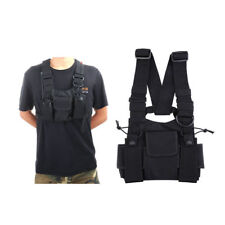 Chest Portable Radio and Phone Pack in black
