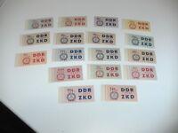 DDR-Dienst C , MiNr. 16-30 **  tadellos postfrisch, Mi. 400,- (2022)