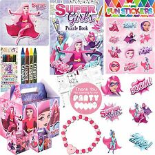 Pre Filled Superhero Girls Party Bags Box Favours Birthday Party Gifts