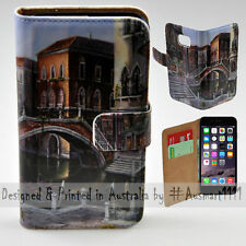 """Wallet Phone Case Flip Cover for iPhone 6 6S Plus 5.5"""" - Venice River Canal"""