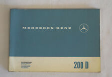 Mercedes 200D owners manual heckflosse English/German/Swed/Dan/Nor