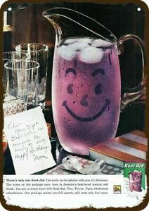 1960 KOOL-AID Purple Smile Pitcher Vintage Look *DECORATIVE REPLICA METAL SIGN*