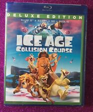 Ice Age: Collision Course 3D (Blu-ray 3D+Blu-ray+DVD+Digital HD, 2016) NEW