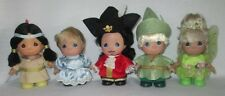 Faith, Trust, and Pixie Dust - Set of 5- 5.5 inch Vinyl Precious Moments dolls