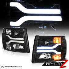 """FiBeR OpTic TuBe"" 2007-2013 Chevy Silverado 1500 2500 3500 OLED DRL Headlights"