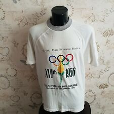 ADIDAS OLYMPIC CENTENNIAL melbourne swimming T-shirt VINTAGE RARE Size xl 90s